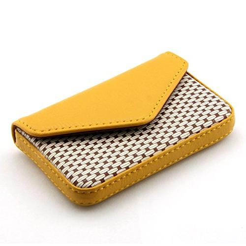 Partstock Multipurpose Leather Business Holder Wallet Credit Yellow