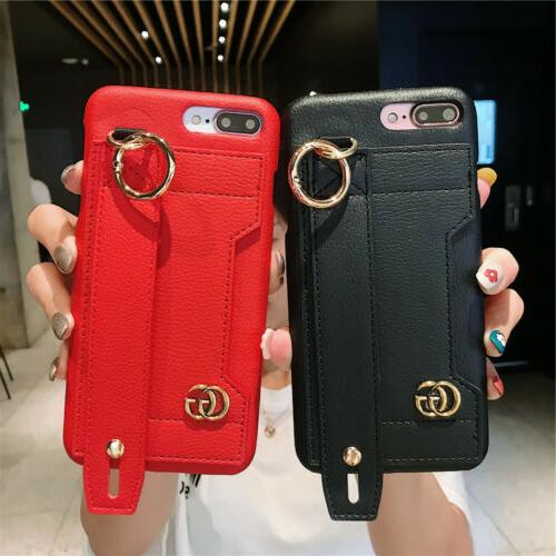 PU Leather Card Cover For XS XR X 8 6 Plus