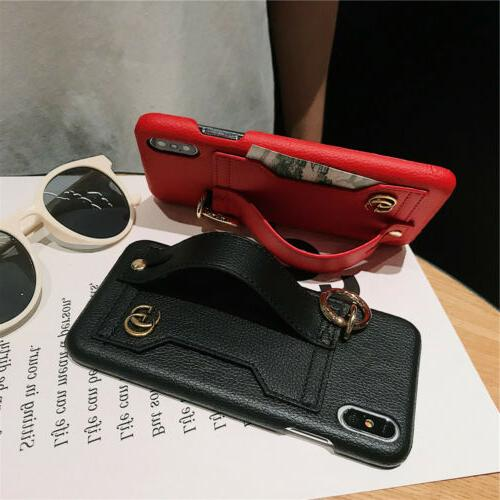 PU Leather Card Holder Case For Max XR X 8 6