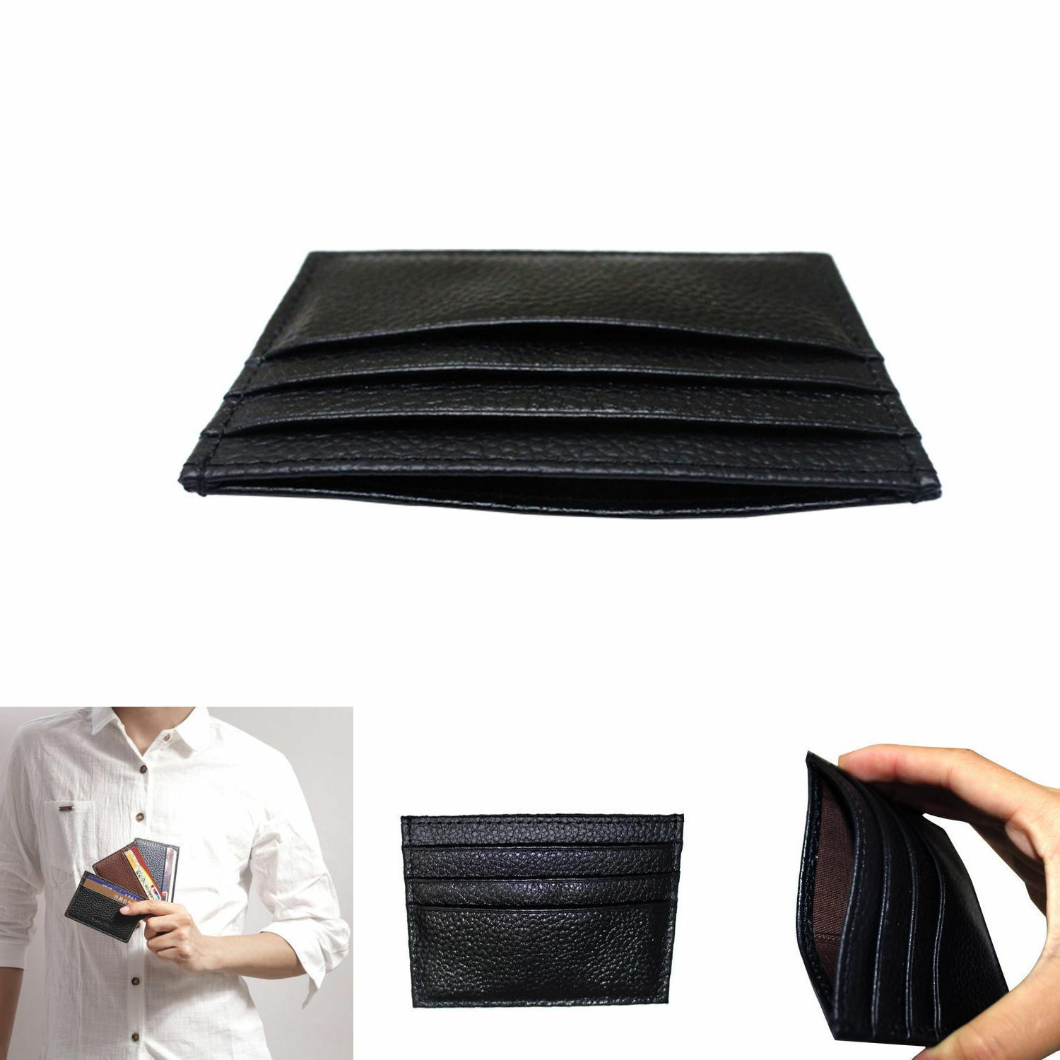 Real Small Id Card Wallet Holder Slim Case