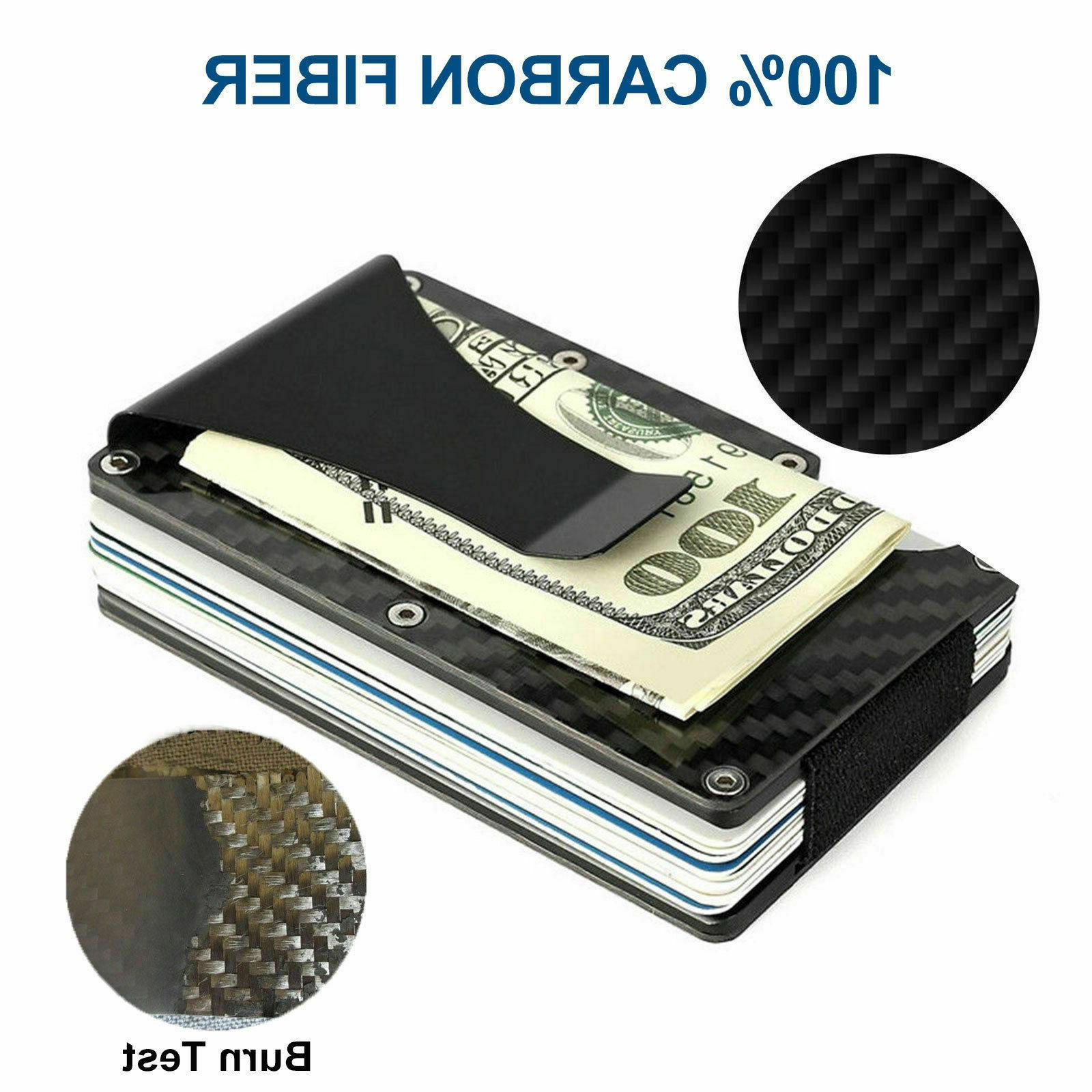 Men Blocking Money Clip Wallet Card Holder Thin Minimalist