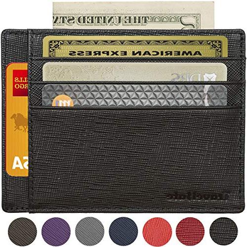 rfid blocking credit card holder genuine leather