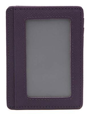 DEEZOMO RFID Blocking Leather Credit Card Front