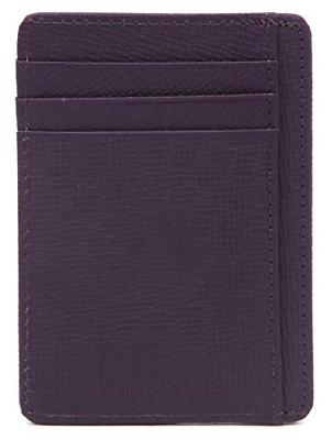 DEEZOMO Blocking Leather Credit Card Holder Front Pocket Wallet