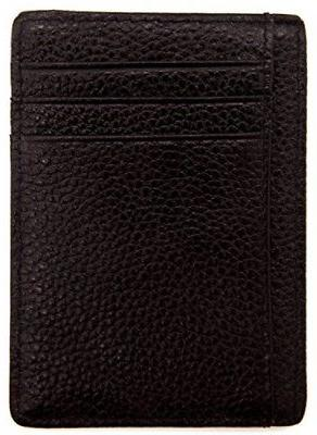 DEEZOMO Blocking Leather Credit Front Pocket Wallet
