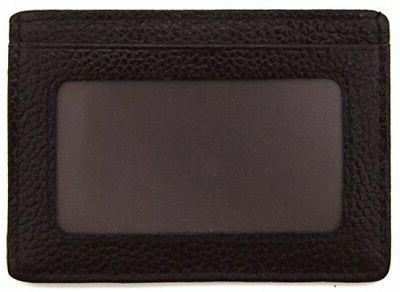 DEEZOMO Blocking Leather Credit Card Front Pocket ID