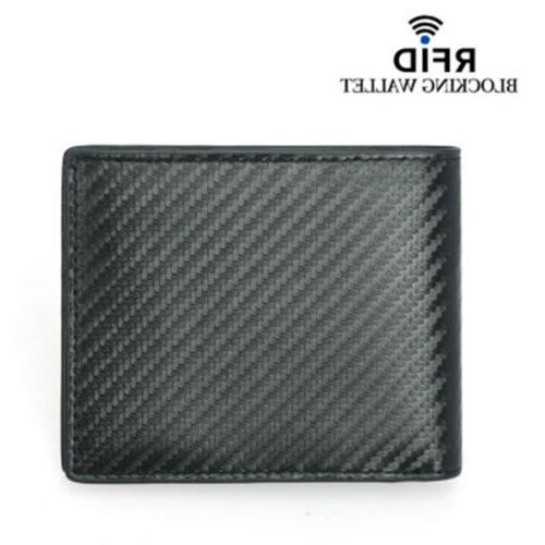 rfid blocking men s bifold leather carbon
