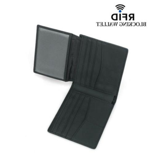 RFID Leather Carbon Holder Security Wallet