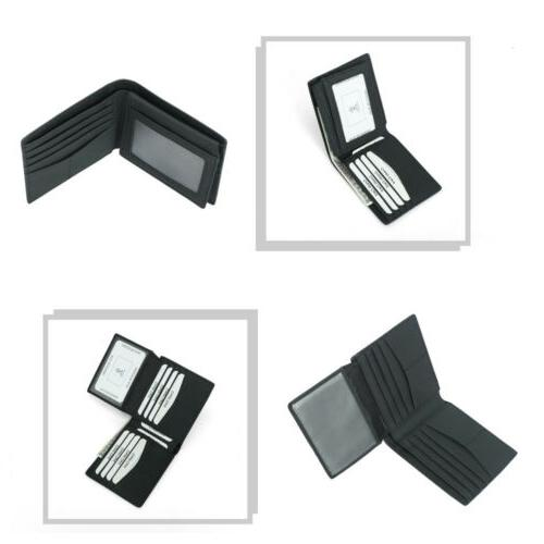 RFID Blocking Leather Holder Security Wallet