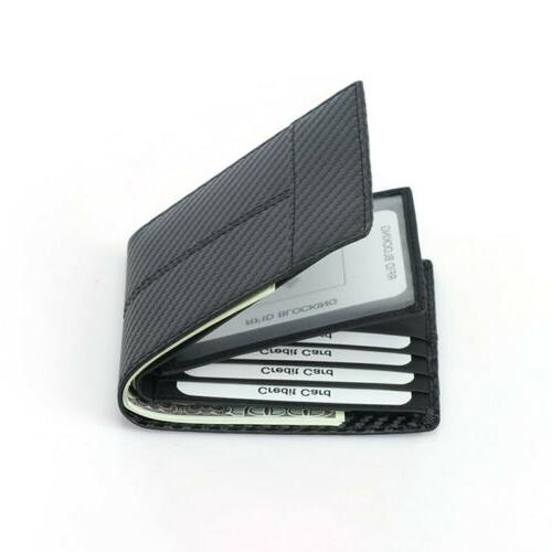 RFID Men's Card Holder Carbon Fiber Fashion Wallet