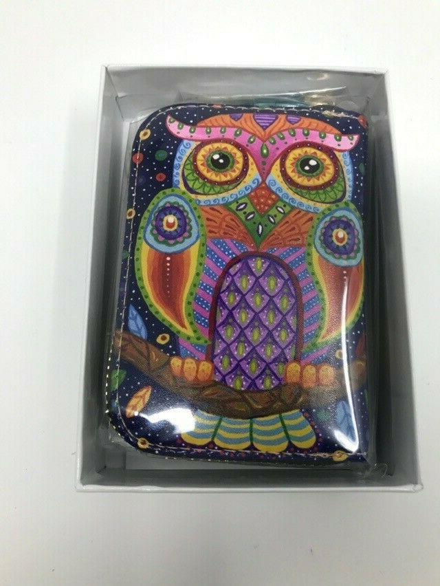 rfid credit card holder leather zippered card