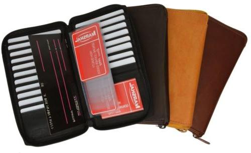 RFID CREDIT CARD HOLDER TALL WALLET ZIPPER NEW 4 COLORS!!!MA