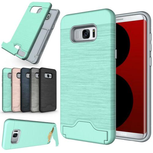 For Samsung Galaxy S8 / S8 Plus Phone Case Card Holder Kicks