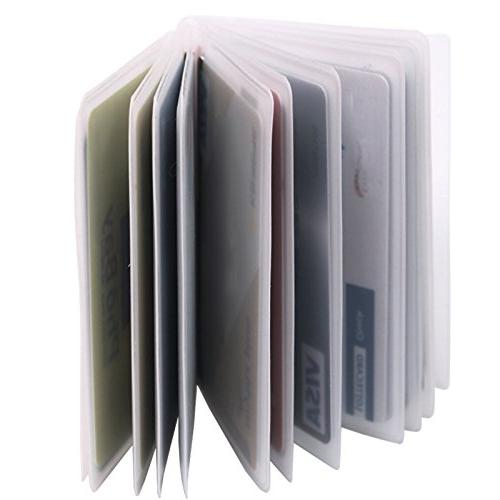 Set of Page Plastic Wallet For Bifold Trifold Slots Holder