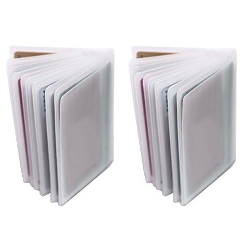 set of 2 10 page plastic card