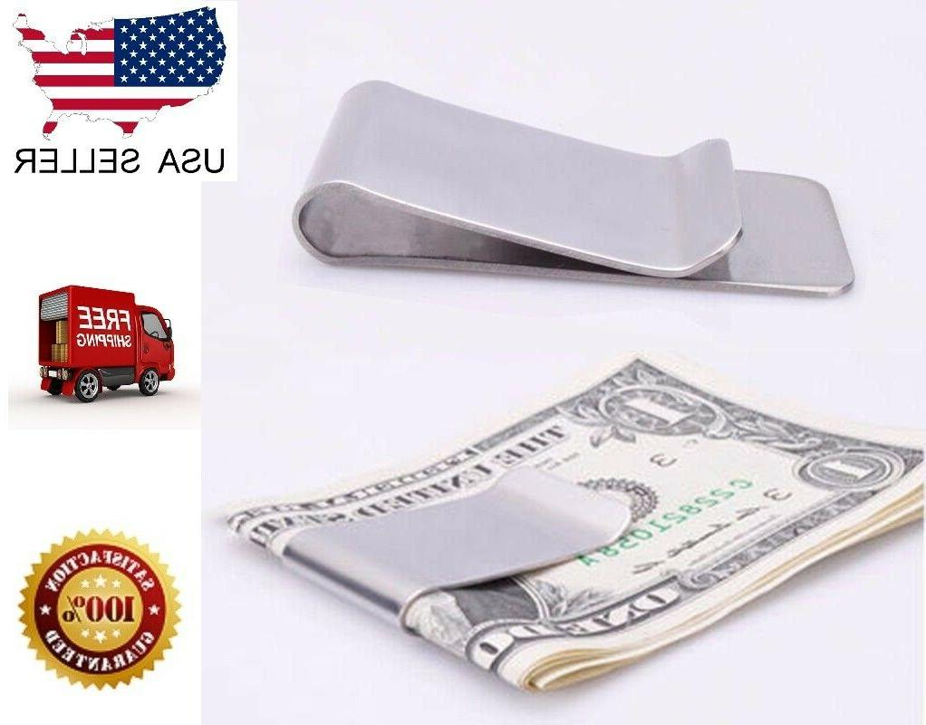 Slim Clip Double Sided Money Clip Credit Card Holder Wallet