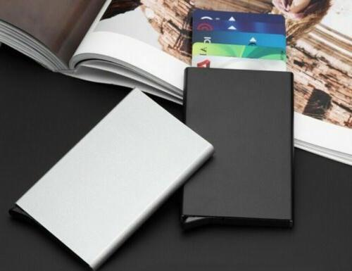 slim rfid blocking business credit card holder