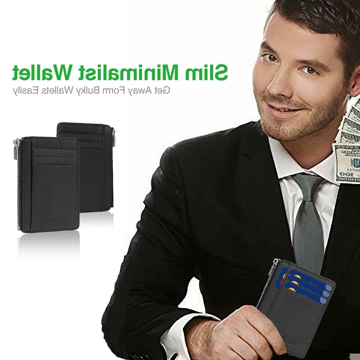 Slim Thin Wallet Clip Card ID Holder Pocket