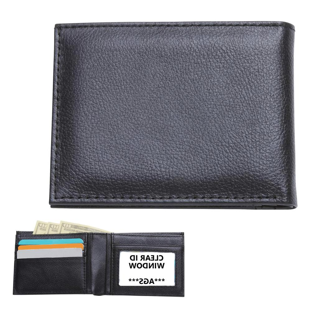 Embassy™ Men's Solid Genuine Buffalo Leather Bi-Fold W