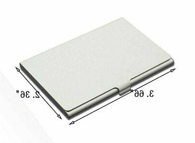Stainless Business Holder Case ID Credit Name Steel Wallet