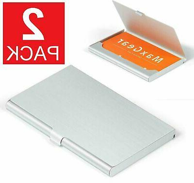 stainless pocket business card holder case id