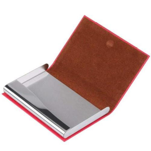 Stainless Steel Slim leather Card Case ID A