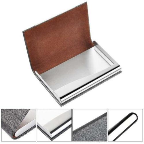 Stainless leather Case ID Wallet A