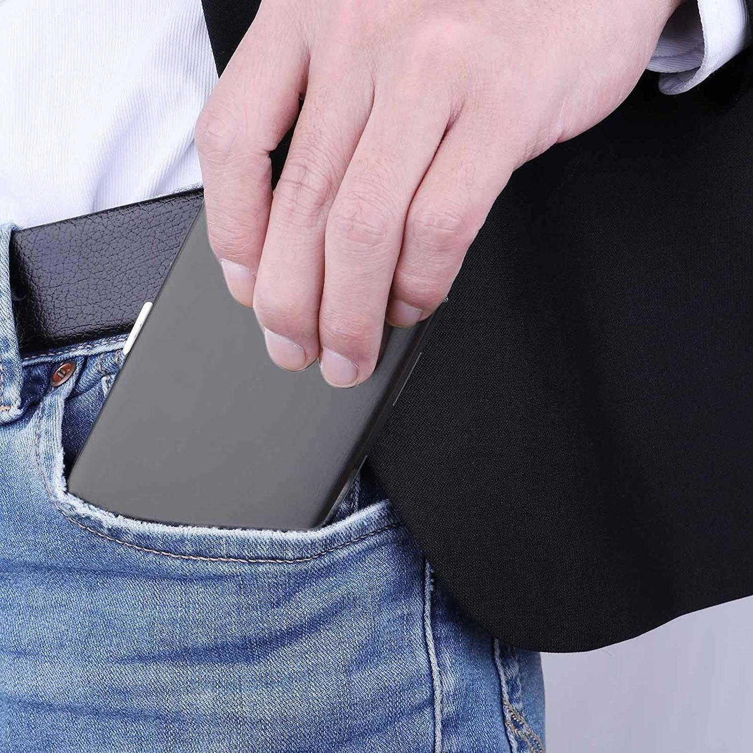 Steel Card Case Wallet RFID Technology Protect Business Card