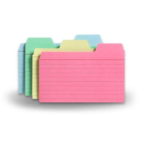 tabbed index cards