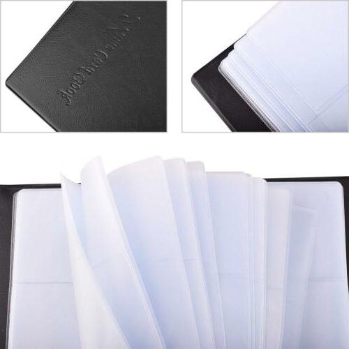 US Business Name Card Holder Card Book Black PU Leather 300 Cards