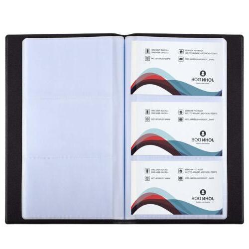 US Business Holder Book Black Leather 300 Cards
