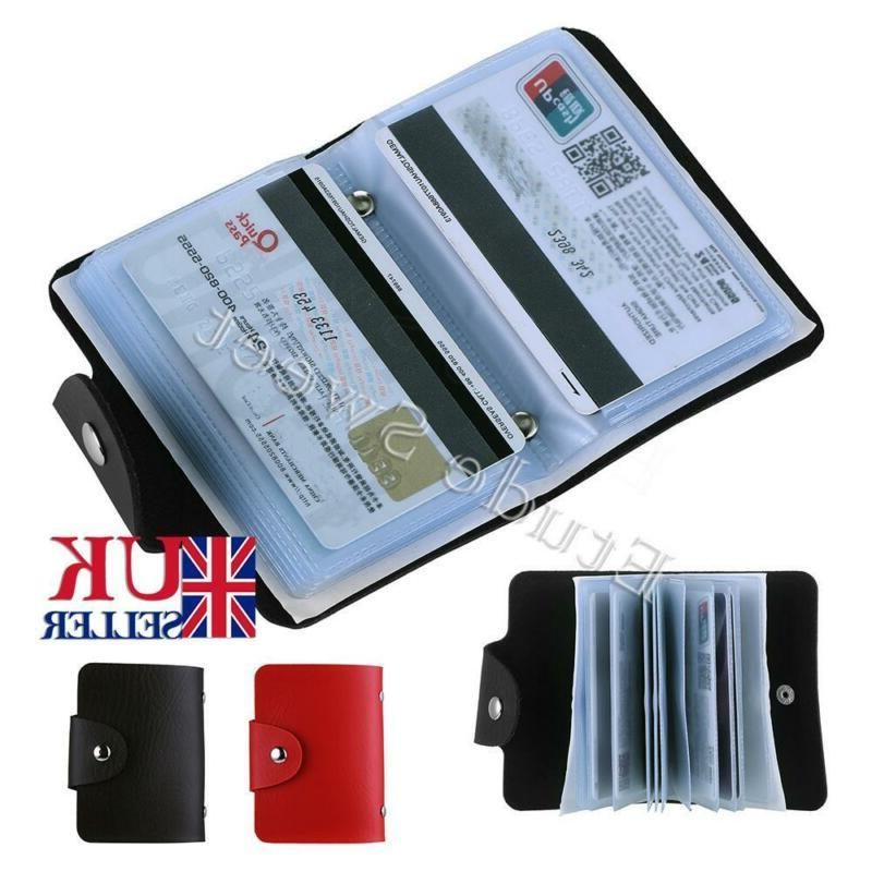 new leather business id credit card holder