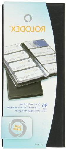 Rolodex Vinyl Business Card Book with A-Z Tabs, Holds 96 Car