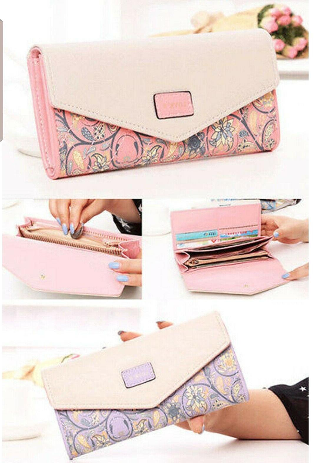 Fashion Clutch Wallet Long Holder Purse