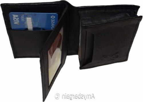 Women men's Leather Business card, Credit case, 50 Cards, ID