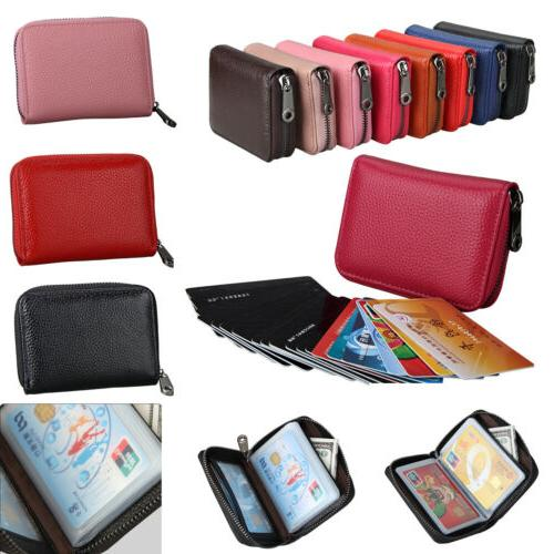 women men wallet credit card holder leather