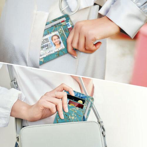 For RFID Leather Credit Card Holder ID Window