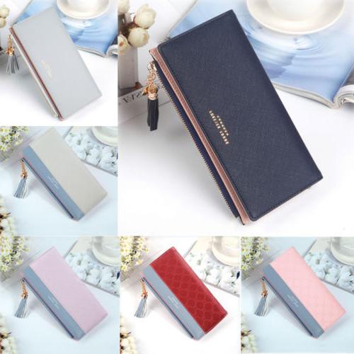 Women's Clutch Wallet Card Holder Case Purse Handbag Long Fa