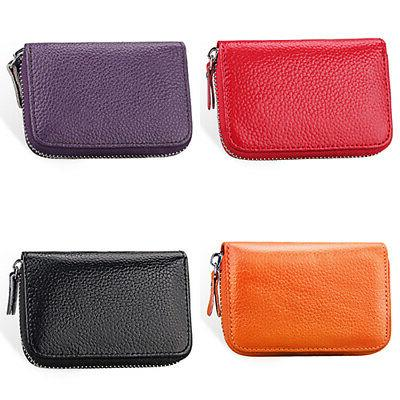 Women's Leather Business ID Credit Card Wallet Case Beamy