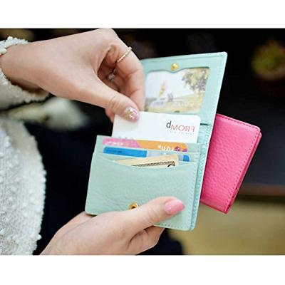 Women's Genuine Business Name Credit Card Wallet