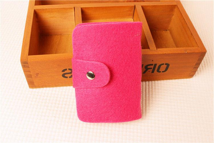 Women's Girls Felted Wool Card Case