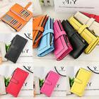 Women's Lady Fashion Leather Clutch Wallet Card Holder Cases