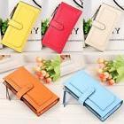Women's Leather Clutch Wallet Long Card Holder Zipper Cases