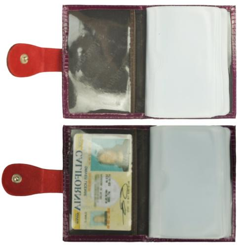 Women's Leather Case Wallet Business Card holder Card
