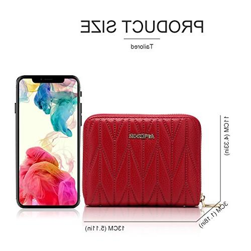 APHISON Women's RFID 24 Leather Accordion Travel Wallet 7120