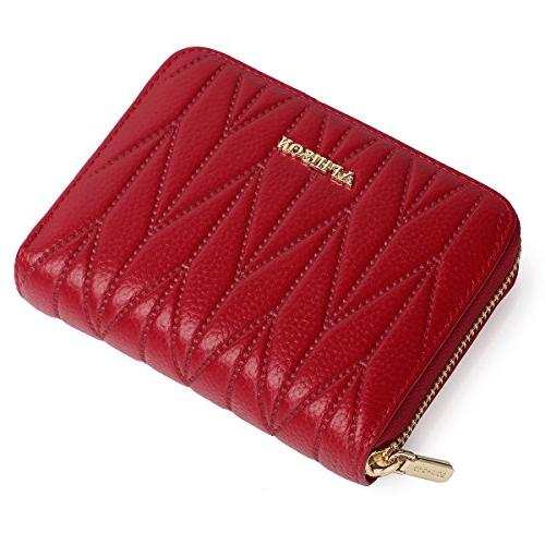 APHISON Women's RFID Blocking 24 Slots Card Holder Leather Compact Accordion Travel Wallet