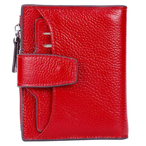women s rfid blocking leather small compact