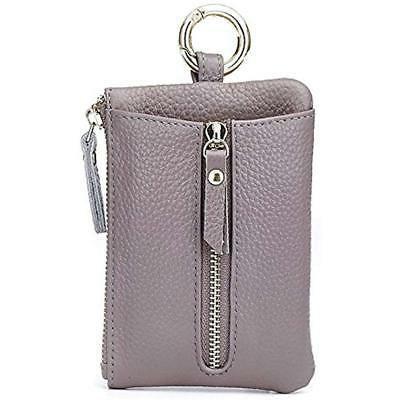 Womens Keyrings & Keychains Leather Case/ Zipper Coin Purse/