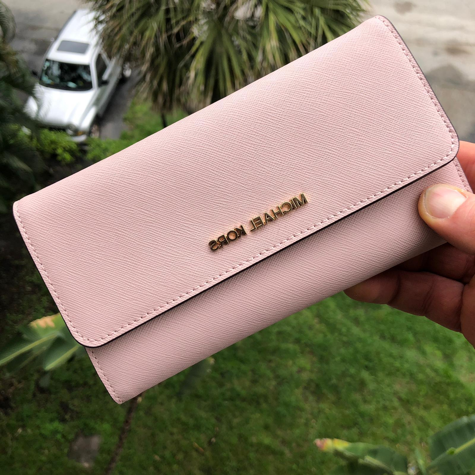 womens leather long trifold wallet credit card