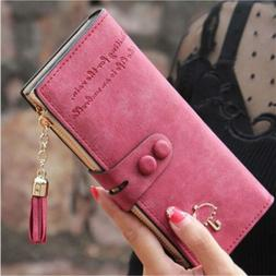Lady Women's Leather Clutch Wallet Purse Long Card Holder Ha